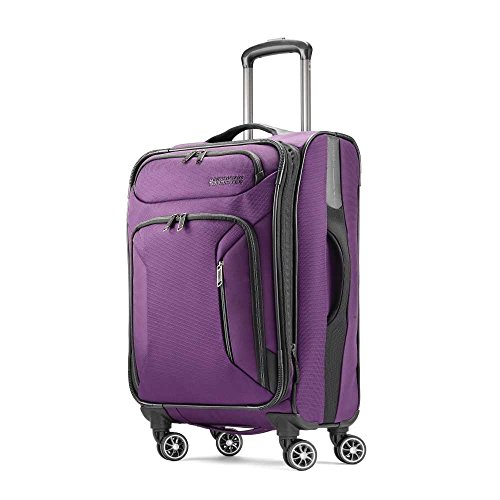 American Tourister Zoom Softside Luggage, Purple, Carry-On American Tourister Ilite Luggage