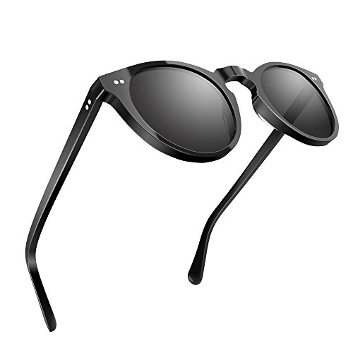 a932909230 Women Polarized Sunglasses UV400 Protection Round Shades Acetate Frame  UV1430 by USKEYVISION