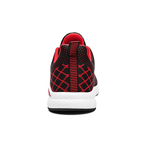 Another Summer Unisex Knit Sport Shoes Couple Running Shoes Black&red pPci82aXD