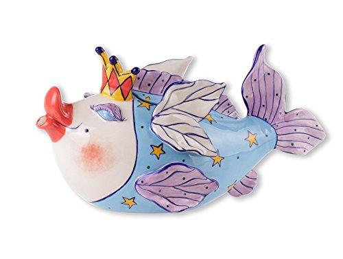 Blue Sky Ceramic Fairy Cod Mother Teapot, 12.5 x 5.5 x 6