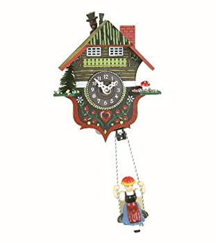 Black Forest Clock Black Forest House with chimney-sweep, incl. batterie