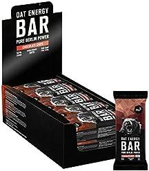 nu3 Barras energéticas de avena natural y chocolate | 1,5 kg (15 x