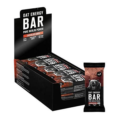 nu3 Barras energéticas de avena natural y chocolate | 1,5 kg (15 x 100 gr) de energía pura | Snack saludable con solo 425 kcal por porción | 48% de granos ...