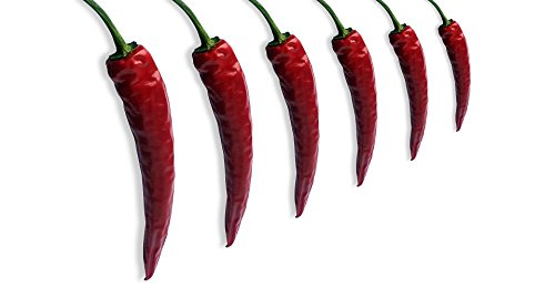 Home Comforts Acrylic Face Mounted Prints Pepper Asia Red Sharp Pods Chili Chilli Pepper Print 18 x 24. Worry Free Wall Installation - Shadow Mount is Included. (Chili Pod California)