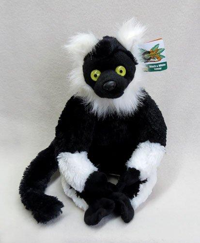 Black-and-white Ruffed Lemur 11-inch Cuddlekins stuffed animal - F3489 B330T White Ruffed Lemur