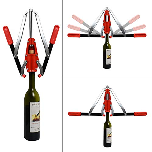 Wine Bottle Double Lever Hand Corker, For Standard Wine, Belgian Beer, and Synthetic Plastic Corks by aipasi tech (Image #3)