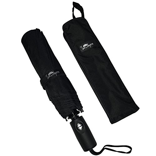 Charm New Brutus - Travel Umbrella by Satchpro, 9 Ribs, Automatic Open/Close with Teflon Technology