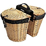 Electra Wicker Saddle Bicycle Baskets for Rear Rack Mount (Panniers)