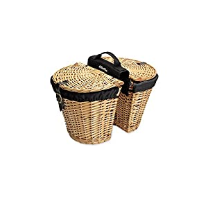 Electra Wicker Saddle Bicycle Baskets For Rear Rack