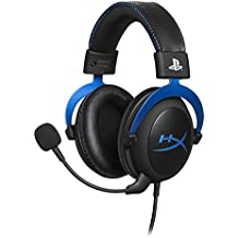 HyperX Cloud Gaming Headset - Playstation 4 - Officially Licensed by Sony Interactive Entertainment LLC for PS4 Systems - Black/Blue (HX-HSCLS-BL/AM)