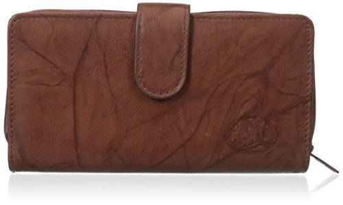 (Buxton Women's Heiress Checkbook Wallet, Mahogany, One Size)