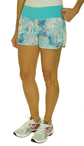 Ideology Printed Woven Active Shorts Aquatic Aqua (Large)