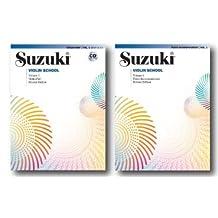 Suzuki Violin School, Volume 1 , Violin Part with CD Accompaniment and Piano Accompaniment Book - Two Book Set