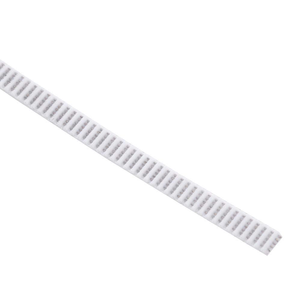 10 Meters Timing Belt White 2GT-6 Open End Toothed Belt Width 6mm Cogged Belt for 3D Printers /& Intelligent Plotter