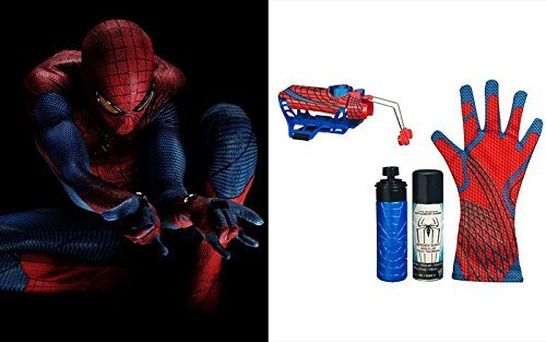Great Spider-man 2-in-1 spray silk water glove Playsets Action Figure Amazing Spiderman Toys Deluxe Rapid Fire 2 in1 Web Fluid water Shooter With Hero Glove Kids Roleplaying (Deluxe Spiderman 2 Kids Costume Gloves)