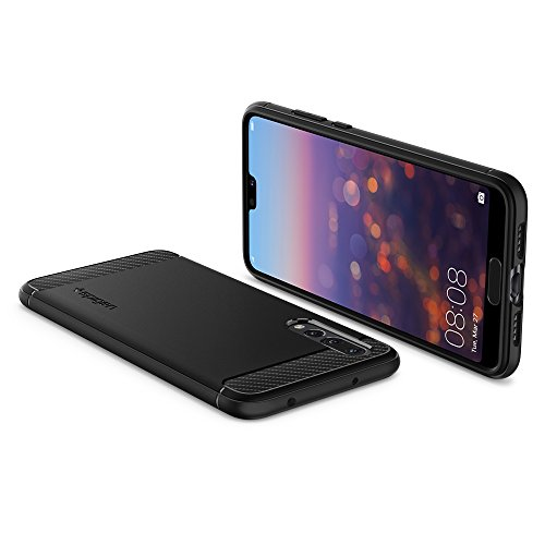 Spigen Rugged Armor HUAWEI P20 Pro Case with Flexible and Durable Shock Absorption with Carbon Fiber Design for HUAWEI P20 Pro (2018) - Black by Spigen (Image #6)