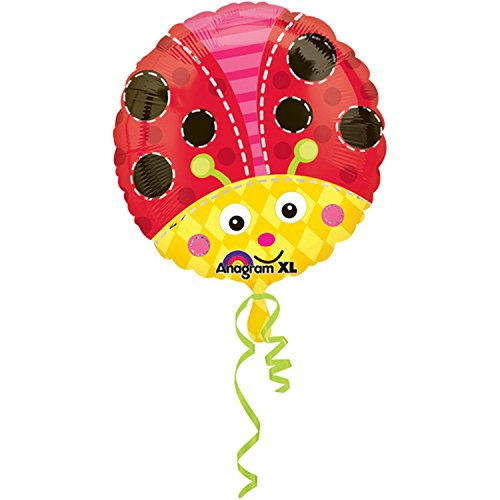 [Amscan 18 Inch Ladybird/Bee Circular Foil Balloon (One Size) (Red/Yellow)] (Jackass Party Boy Costume)