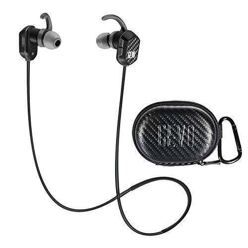 GEVO Bluetooth Running Headphones Gv12 Stereo Magnetic Earphones, in-Ear Sweatproof Sports Earbuds with Mic for Smartphones - Grey CVC6.0 Noise Cancelling Headphones