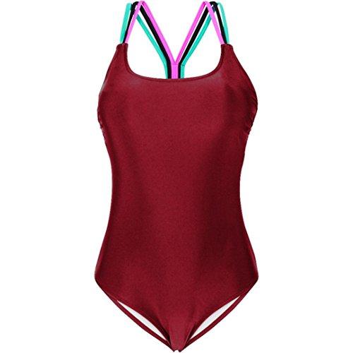 1 mujer mujer Adeshop Bikini ba espalda unidades o siam puro Push de playa de acolchado ropa traje up sin color xra0nEaX