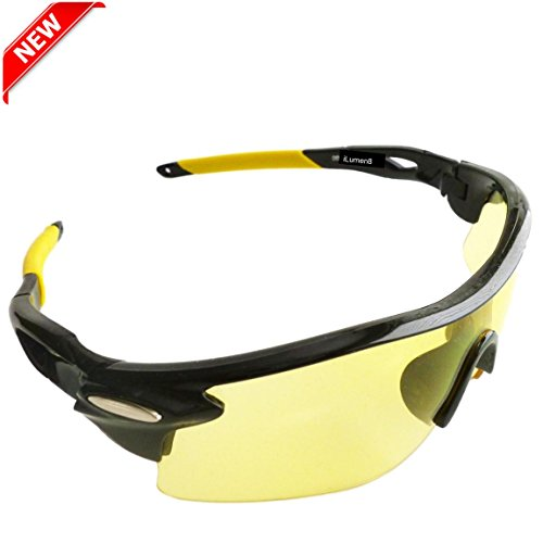 BEST-Shooting-Glasses-UV-Blacklight-Flashlight-Yellow-Safety-Eye-protection-by-iLumen8-See-Dog-Cat-Urine-with-Amber-Black-Lights-Night-Vision-Ultraviolet