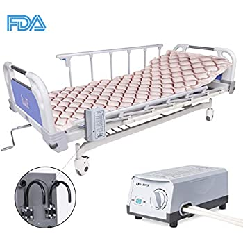 MARNUR Alternating Pressure Air Mattress Electric Pump Air Inflatable Pressure Mattress Pad Cover for Pressure Ulcer and Sore Treatment - Fit Standrad ...