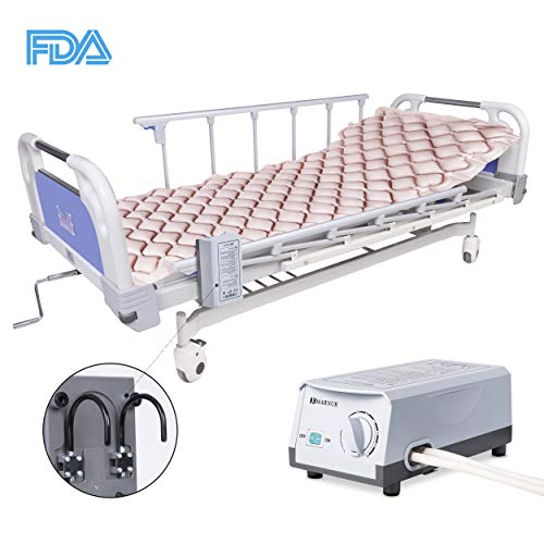 MARNUR Alternating Pressure Air Mattress Electric Pump Air Inflatable Pressure Mattress Pad Cover for Pressure Ulcer and Sore Treatment - Fit Standrad Hospital Bed