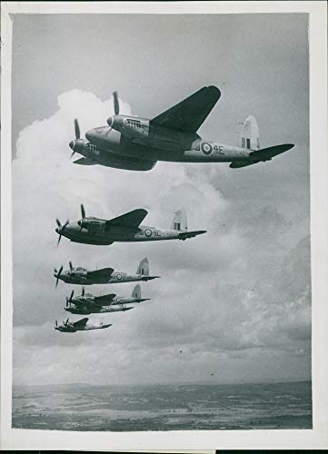 Mosquito Engine Twin (Vintage photo of de Havilland Mosquito Combat aircraft:The Honour Kings Birthday.)