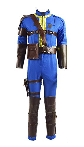Survivor Nate Costume Halloween Game Cosplay Blue Outfit Jumpsuit for Men (Small, Blue)]()