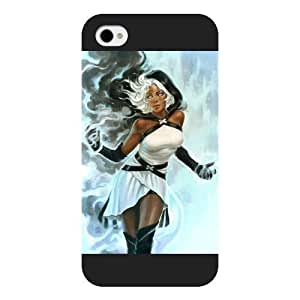 UniqueBox Customized Marvel Series Case for iPhone 4 4S, Marvel Comic Hero Storm Ororo Munroe iPhone 4 4S Case, Only Fit for Apple iPhone 4 4S (Black Frosted Case)