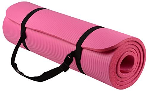 Everyday Essentials 1/2-Inch Extra Thick High Density Anti-Tear Exercise Yoga Mat with Carrying Strap