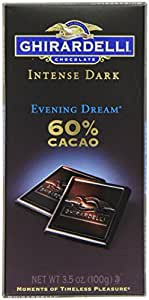 Ghirardelli Chocolate Intense Dark Bar, Evening Dream 60% Cacao, 3.5-Ounce Bars (Pack of 6)