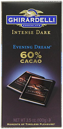 - Ghirardelli Chocolate Intense Dark Bar, Evening Dream 60% Cacao, 3.5-Ounce Bars