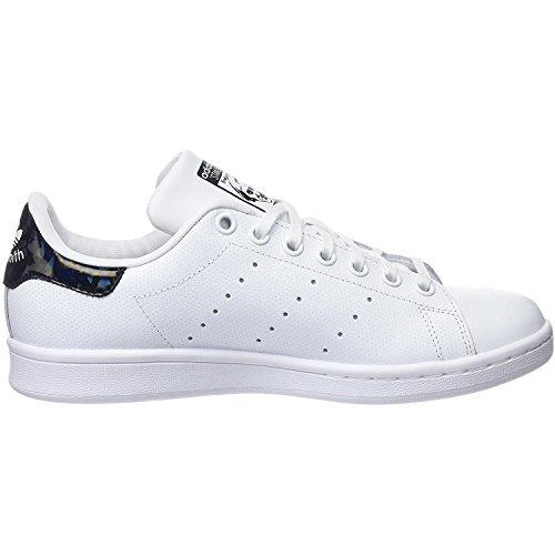 adidas Unisex-Kinder Stan Smith J Gymnastikschuhe Elfenbein (Ftwr White/ftwr White/core Black)