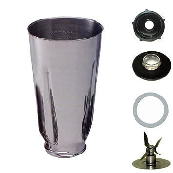 5 taza, acero inoxidable licuadora frasco, completa. Se adapta a Oster.: Amazon.es: Hogar