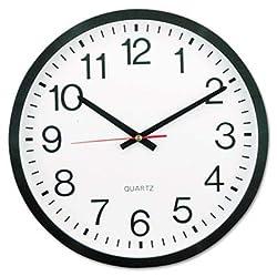 Universal UNV10431 Round Wall Clock 11-1/2, Black