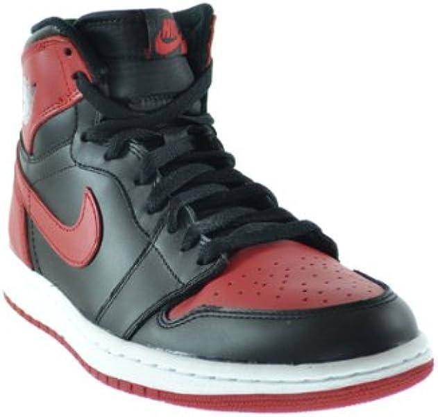 8a62320f0d02 Air Jordan 1 Retro High OG Men s Basketball Shoes Black Varsity Red-White  555088-023 (9.5 D(M) US)