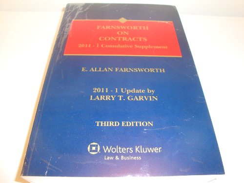 2011 Supplement - Farnsworth on Contracts 2011-1 Cymulative Supplement