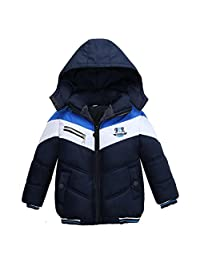 Staron Kids Boys Coat Children Winter Thick Padded Jacket Warmer Outwear Clothes