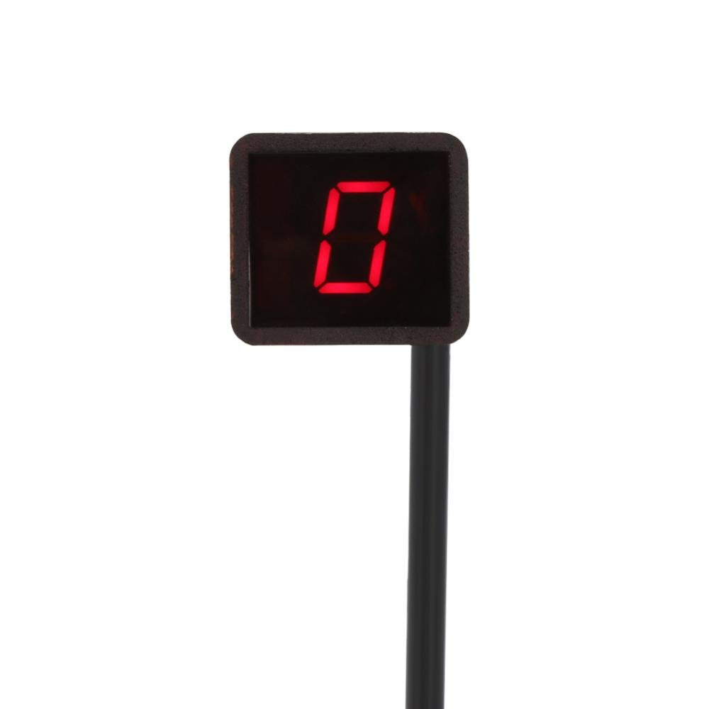 Universial Motorcycle Gear Indicator- LED Display Gear Indicator Light Red by Keenso
