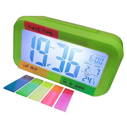 Multifunctional Smart Digital Alarm Clock Light LCD Temperature, Night Light, No Radiation, Automatic Background Light Sensing, Quiet