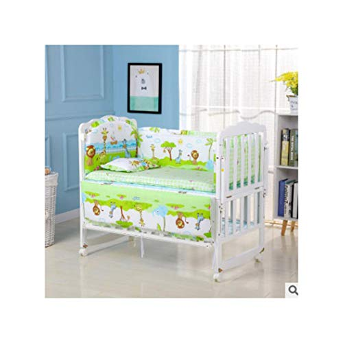 (Five-Piece Baby Bedding Sets Crib Bumpers Bed Around Cot Bed Sheets Cotton T)