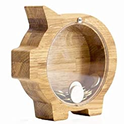 Personalized Wooden piggy bank for boys ...