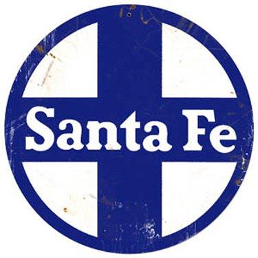 Santa Fe Logo Herald Sign Tin Vintage Style Railroad Herald Signs