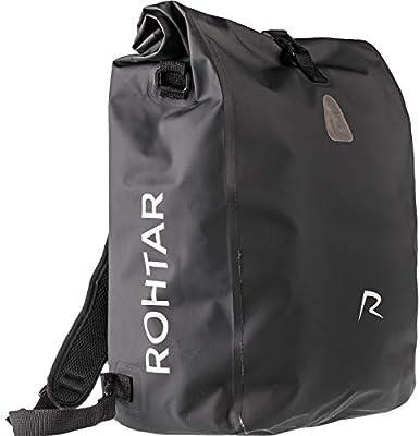 Rothar - Borsa per borse bici - Zaino - Borsa per bici - La borsa da viaggio ideale per ciclisti - Cinghie e ganci nascondibili e tessuto in PVC completamente impermeabile -