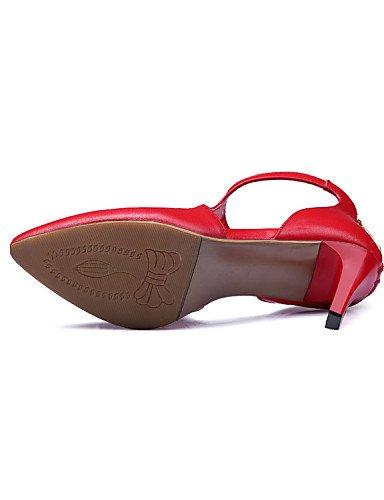 UWSZZ Las sandalias de confort elegante zapatos de novia - zapatos de tacón - talones / Práctico / escote / sugerencia / cerrado - el matrimonio y el trabajo de oficina / / / noche formal y , 2A-2 roj