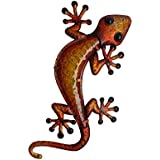 Comfy Hour 14.5 Inch Lizard Wall Decoration, Brown