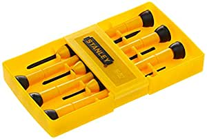 Stanley Bi-Material Precision Screwdriver Set, Stht66052-8, 6 Pieces