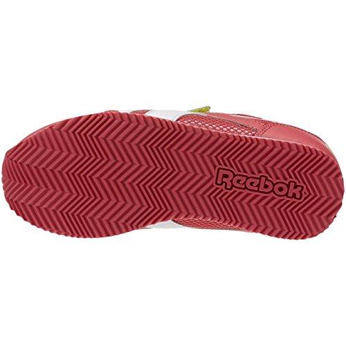 Reebok Royal Cljog 2 2v, Zapatillas de Running Para Niñas Rosa / Amarillo / Blanco (Fearless Pink/Solar Yellow/Wht)