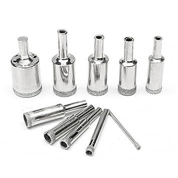 10 Pcs 2-12mm Diamond Drill Bits Set Hole Saw Cutter Tool Glass Marble Granite**