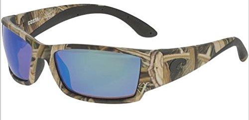 Costa Del Mar Corbina Sunglasses, Mossy Oak Shadow Grass Blades Camo, Blue Mirror 580P - Sunglasses Mar Camo Del Costa